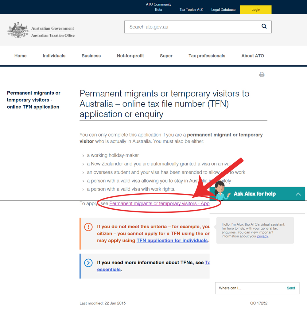 Permanent-migrants-or-temporary-visitors---online-TFN-application---Australian-Taxation-Office